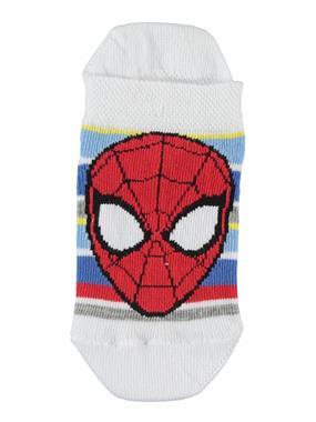 Spiderman Penye Patik Çorap 3-9 Yaş Beyaz