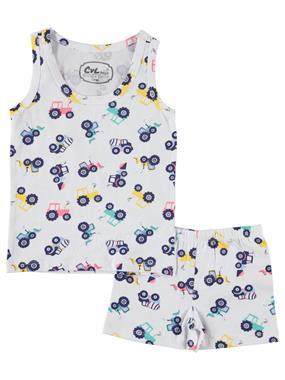 Cvl The Ages Of 2-10 Excavation Tools Boy Underwear Patterned Team White