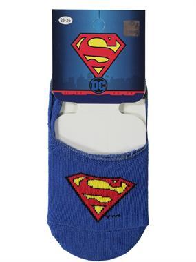 Superman Erkek Çocuk Babet Çorap 5-9 Yaş Saks Mavisi