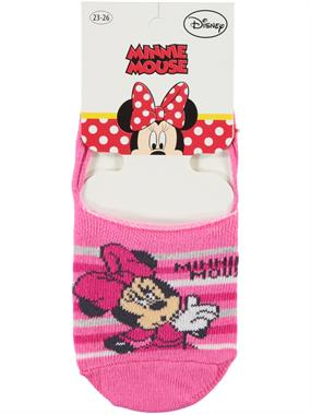 Minnie Mouse Fuchsia Ballet Flats Socks Girl Age 5-9