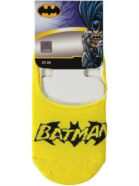Batman Yellow Ballet Flats Socks Boy Age 5-9