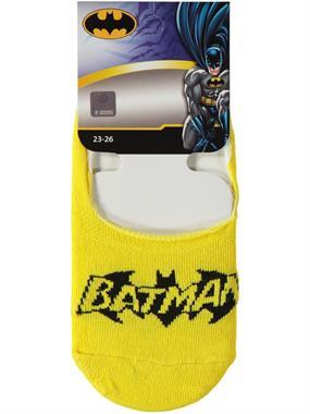 Batman Erkek Çocuk Babet Çorap 5-9 Yaş Sarı