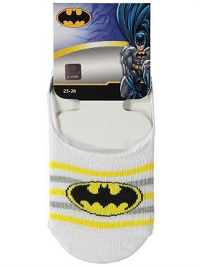 Batman Erkek Çocuk Babet Çorap 5-9 Yaş Beyaz