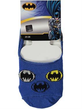 Batman Erkek Çocuk Babet Çorap 5-9 Yaş Saks Mavisi
