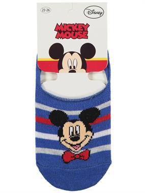 Mickey Mouse Erkek Çocuk Babet Çorap 5-9 Yaş Saks Mavisi