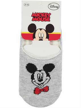 Mickey Mouse Age 5-9 Boy Socks Gray Ballet Flats
