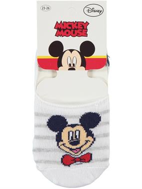 Mickey Mouse Age 5-9 Boy Socks White Ballet Flats