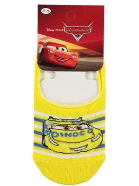 Cars Yellow Ballet Flats Socks Boy Age 5-9