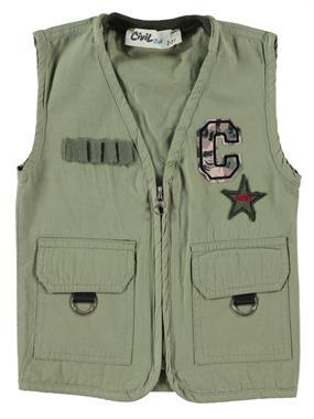Civil Boys Khaki Boy Vest Age 2-5