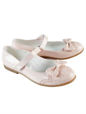 Missiva Mini Girl Ballet Flats Powder Pink Drip 31-35 Number
