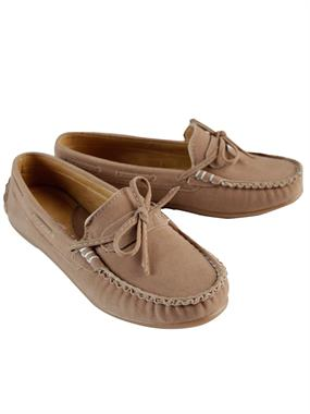Barbone Number 31-35 Boy Beige Suede Shoes