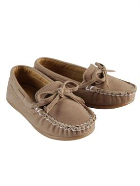 Barbone Boy Beige Suede Shoes 21-25 Number
