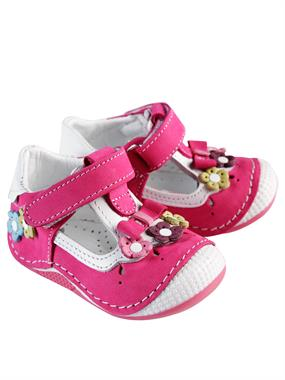 Baby Force Baby Girl First Step Shoes Fuchsia Skin Number 18-21