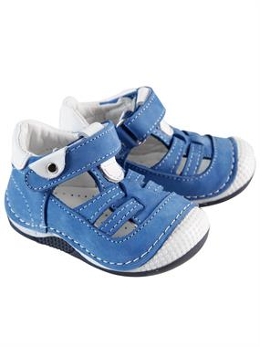"Baby Force Ilkad "" M Baby Boy Blue Leather Shoes Number 18-21"