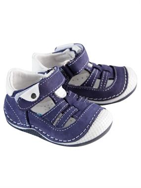 "Baby Force Baby Boy Navy Blue Leather Shoes Number Ilkad "" M 18-21"