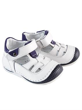 "Baby Force Baby Boy White Leather Shoes Number Ilkad "" M 18-21"