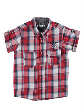 Civil Boys Age 6-9 Boy Red Plaid Shirt With Double Pockets