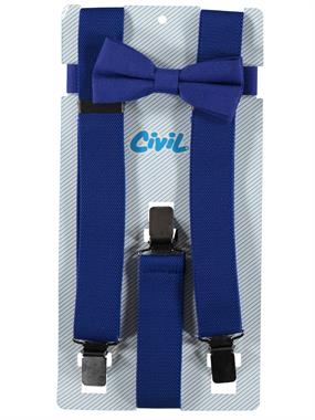 Civil Love Saks and Bow Tie Set Blue 1-3 years