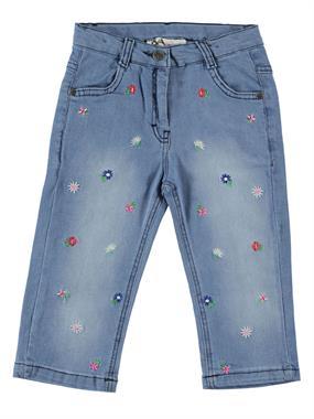 Civil Girls Embroidered Capri Blue Jeans Age 6-9 Girl Chichewa