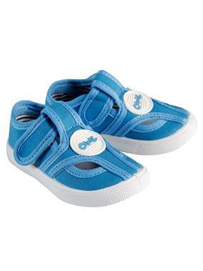 Civil Blue Linen Baby Boy Shoes 21-25 Number