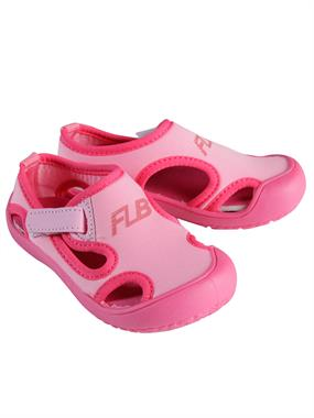 Flubber Girl Children Beach Shoes, Pink 24-30 Number