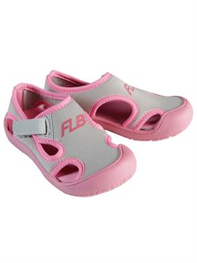 Flubber Girl Children Beach Shoes, 24-30 Gray Number