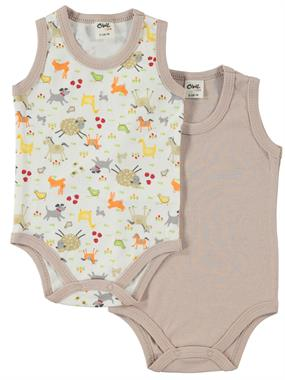Civil Baby Brown 0-18 Months, Baby Boy Bodysuit With Snaps