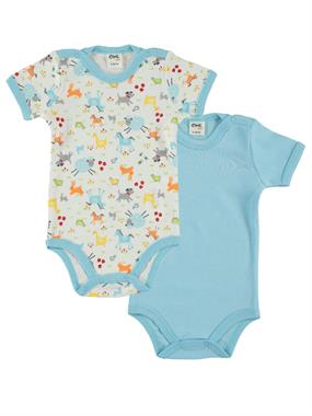 Civil Baby Turquoise 0-18 Months, Baby Boy Bodysuit With Snaps
