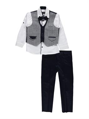 Civil Class Navy Blue Vest Suit Age 6-9