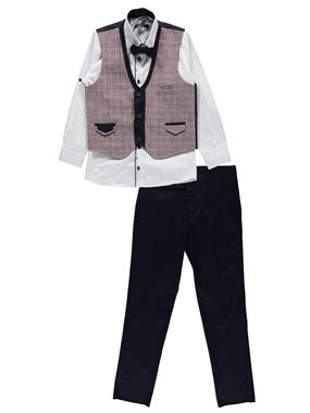 Civil Class Suit Vest Burgundy The Ages Of 10-13
