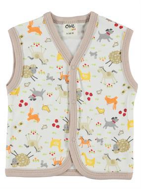 Civil Baby 0-9 Months Baby Boy Brown Vest