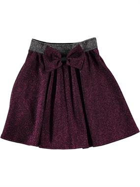 Civil Girls The Girl Child Skirt 6-9 Age Waist Bowtie Silvery Fuchsia