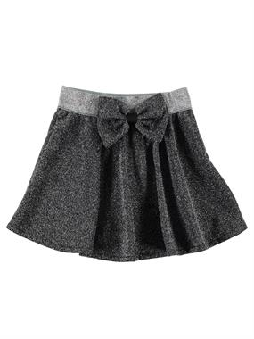 Civil Girls Bowtie Silvery Grey Skirt, The Waist Of The Girl Child In The 2-5 Age