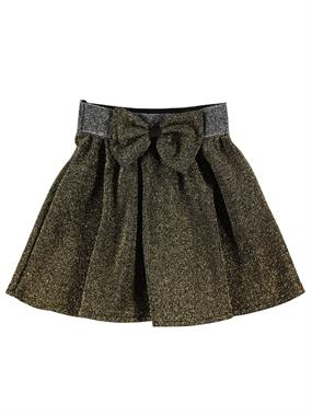 Civil Girls The Skirt Waist Bowtie Silvery Yellow Of The Girl Child Age 2-5