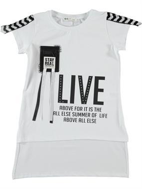 Civil Girls Girl Kids T-Shirt White Ages 6-9