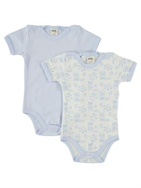 Civil Baby 0-24 Months Baby Boy Blue Bodysuit With Snaps