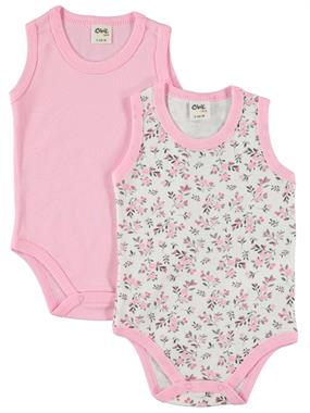 Civil Baby Baby girl 2-0-18 Months Pink Bodysuit with snaps