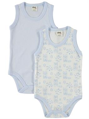 Civil Baby 2 baby-0-18 Months Blue Bodysuit with snaps