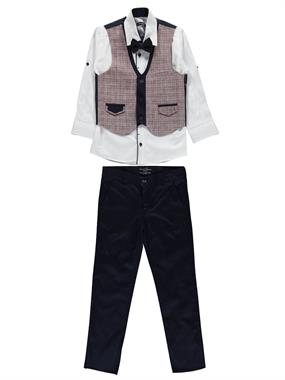 Civil Class Suit Vest Burgundy The Ages Of 6-9