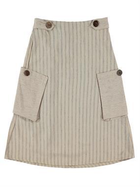 Civil Girls Beige Skirt Girl Age 6-9