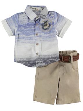 Civil Baby Erkek Bebek Kaprili Takım 6-18 Ay Saks Mavisi