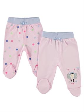 Kujju Baby Girl Polka-Dot Pink 0-6 Months Baby Child Printed Booty Oh
