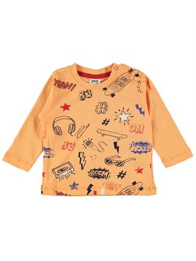 Civil Baby Erkek Bebek Sweatshirt 6-18 Ay Turuncu