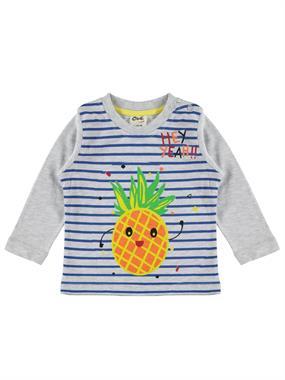Civil Baby Erkek Bebek Sweatshirt 6-18 Ay Gri