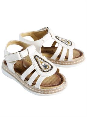 Missiva Number Girl White Sandals 21-25
