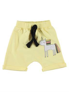 Babycool Chirping Baby 6-18 Months Baby Girl Yellow Shorts