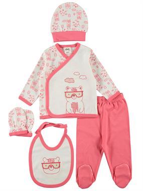 Civil Baby Bebek 5'li Zıbın Takımı 0-3 Ay Narçiçeği