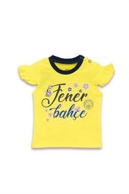 Fenerbahçe Baby Girl Licensed T-Shirt Yellow