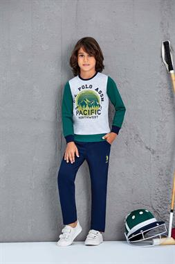 U.S. Polo Assn US Polo Assn Male Child 2 Licensed-Team Yesil