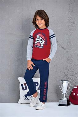 U.S. Polo Assn US Polo Assn Male Child 2 Licensed-Team Burgundy